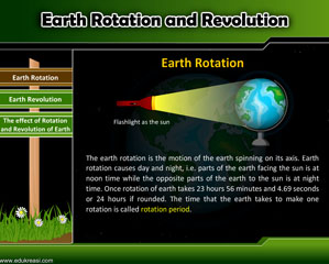 EARTH ROTATION AND REVOLUTION