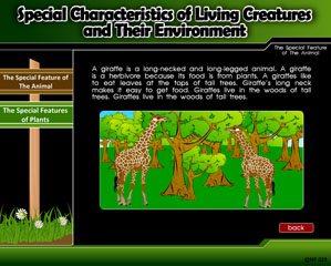 SPECIALS CHARACTERISTICS OF LIVING CREATURES AND THEIR ENVIRONMENT