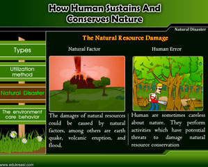 HOW HUMAN SUSTAINS AND CONSERVES NATURE